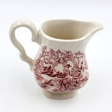 Myott Pink and White Ceramic Creamer / The Hunter / Meakin