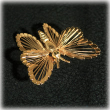 Butterfly Pin, Spinnerets Brooch, Monet Jewelry, Gold Butterfly, Open Work, Designer Jewelry, Book Piece