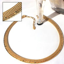 Woven Metal Egyptian Revival Cobra Chain Gold Choker