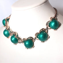 Green Thermoset Mid Century Choker Necklace