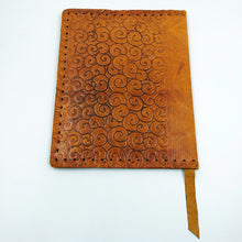 Vintage Hand Painted Leather Book Cover