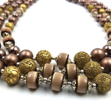 Vintage Mocha Brown Chocolate Multi-Strand Necklace