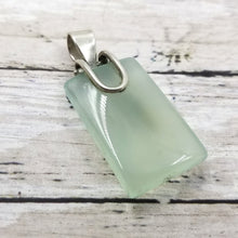 Sterling and Polished Glass Pendent