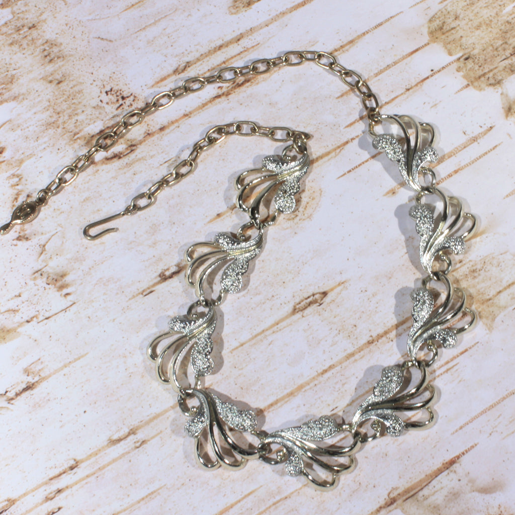 silver gold mixed metals sarah coventry choker necklace