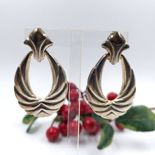 Stainless Steel Flur De Lis Hoop Earrings
