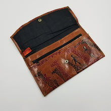 Stamped leather African Themed Wallet
