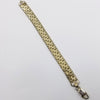 Italian Sterling Silver and Gold Vermeil Woven Mesh Bracelet