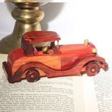 Hand Made Vintage Wood Toy Car, Vintage Toys