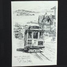 Framed Don Davey Hyde Street Cable Car Print