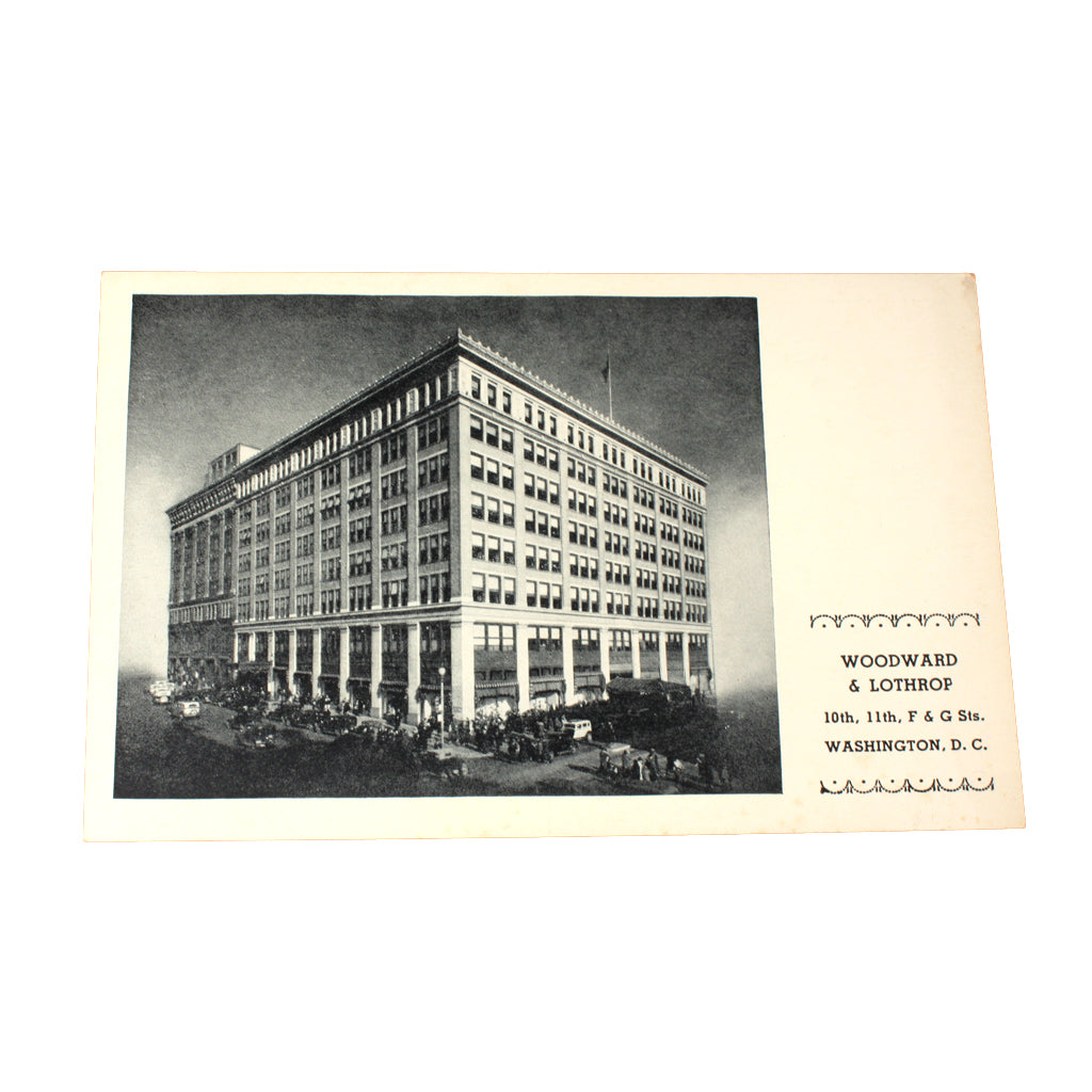 1940s woodward and lothrop building black white postcard