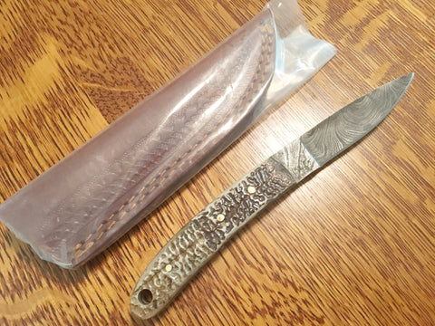 Turtle Shell Handle skinning & hunting  Knife