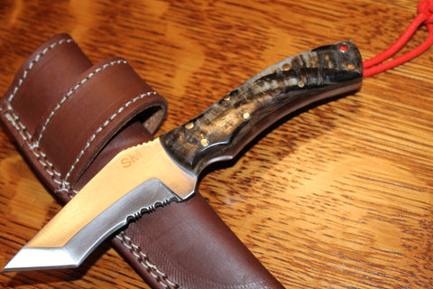 RAM HORN HANDLE TANTO BLADE KNIFE