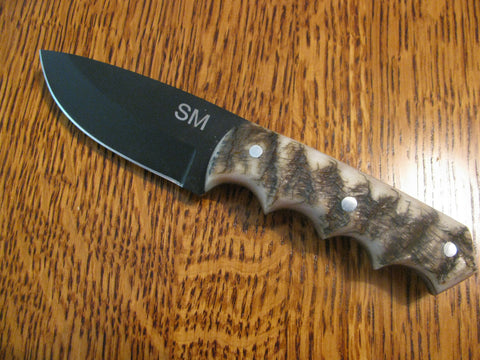 RAM HORN HANDLE WIDE BLADE KNIFE