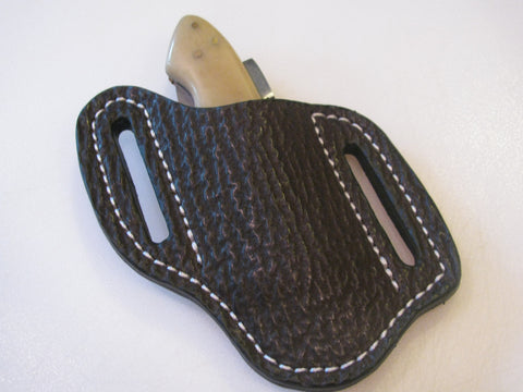 Shark Skin Pancake Style / Cross draw  Knife Sheath