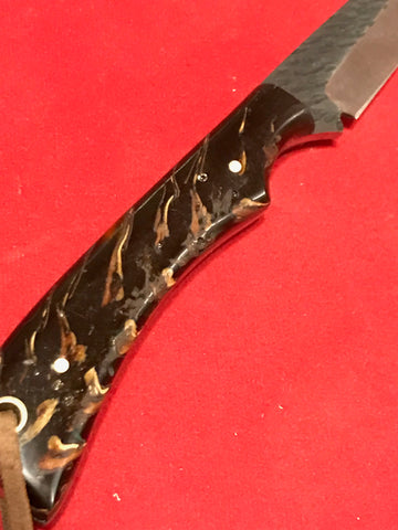 Pine Cone Handle  D 2 Steel Hunting Knife