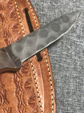 Pine Cone Handle Hammered steel Knife