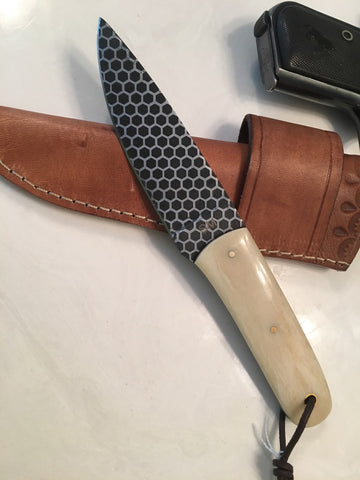 Camel Bone Honey Comb blade Knife