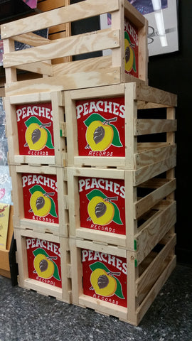 PEACHES HANDMADE RECORD CRATE
