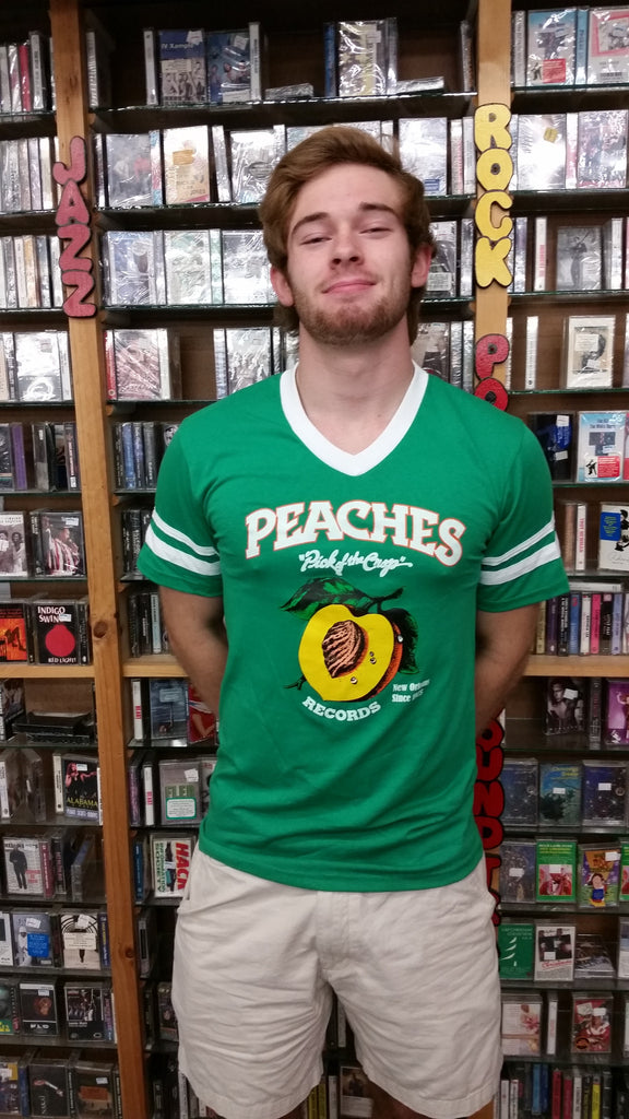 PEACHES UNISEX GREEN SOCCER TEE