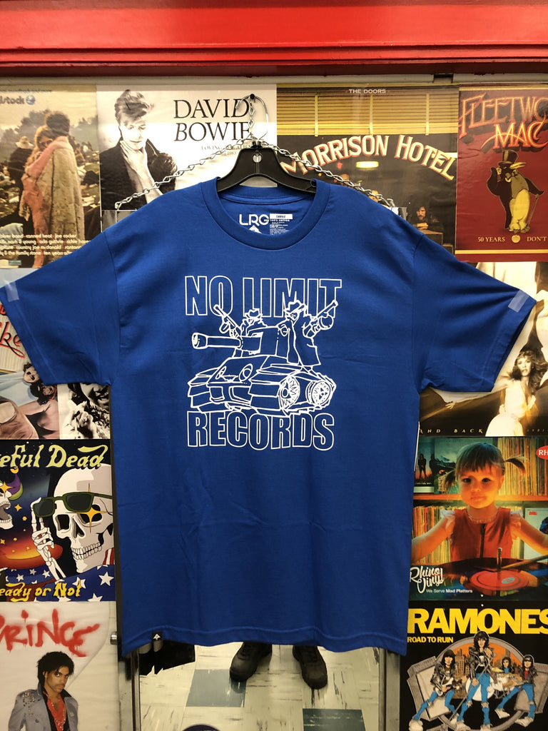 LIMITED EDITION NO LIMIT RECORDS x LRG COLLAB SHIRT (BLUE)
