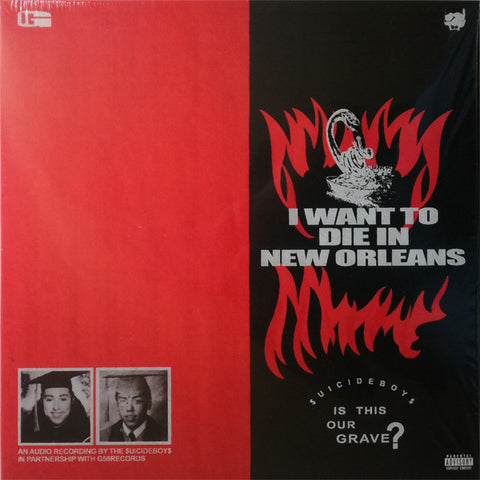 "$UICIDEBOY$ ""I WANT TO DIE IN NEW ORLEANS"" LP (RARE, SILVER)"