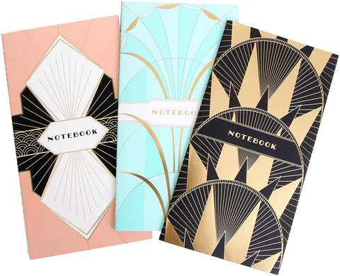 ART DECO NOTEBOOKS (SET OF 3)