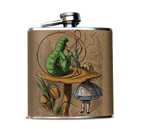 ALICE IN WONDERLAND CATERPILLAR FLASK
