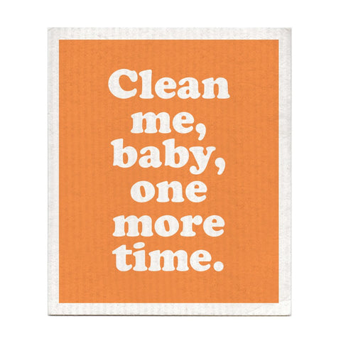 CLEAN ME BABY ONE MORE TIME DISH RAG