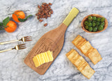 FANCY THAT 'FINEST THINGS' CUTTING BOARD W/ BUILT IN CHEESE KNIFE