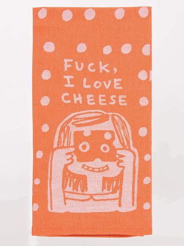 F*CK I LOVE CHEESE DISH TOWEL