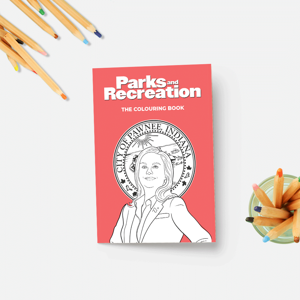 PARKS AND RECREATION COLOURING BOOK