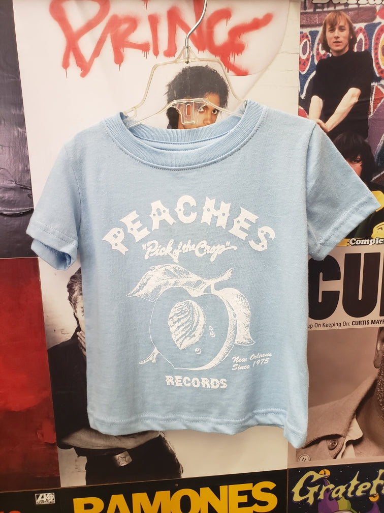 LIGHT BLUE BABY/TODDLER PEACHES TEE