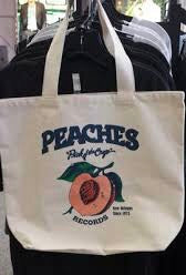 PEACHES RECORDS TOTE BAG