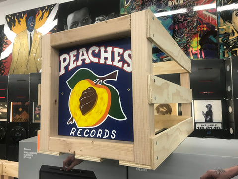 Limited Edition Blue Record Crate