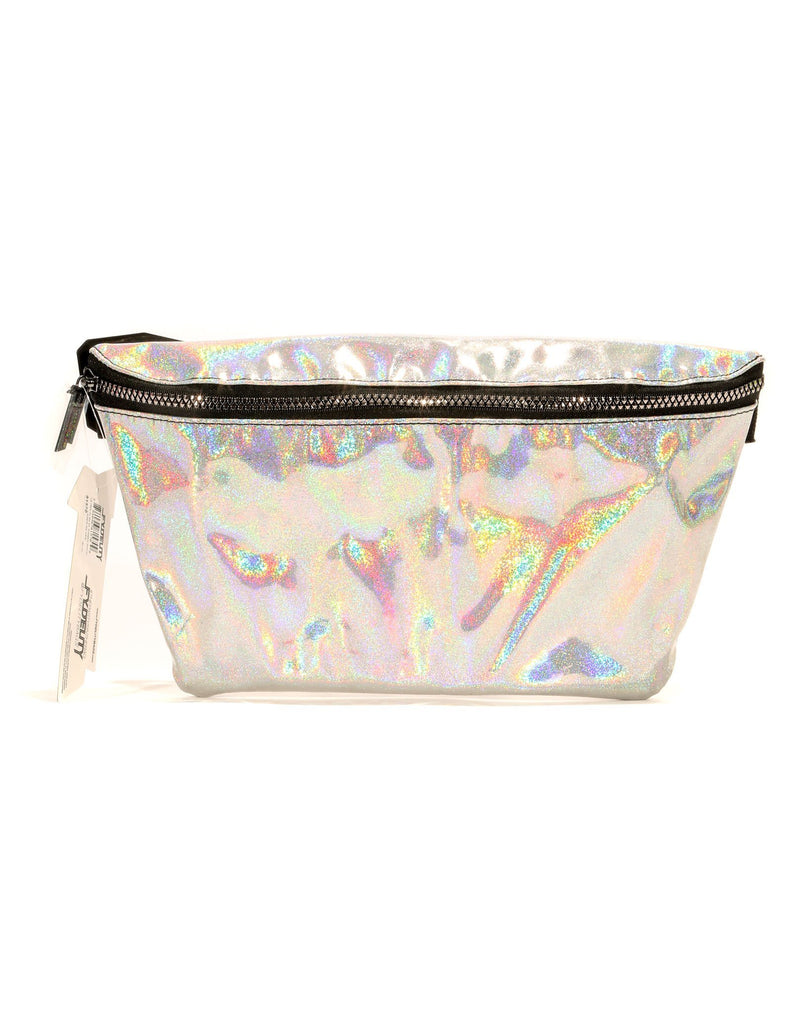 LASER SILVER FANNY PACK