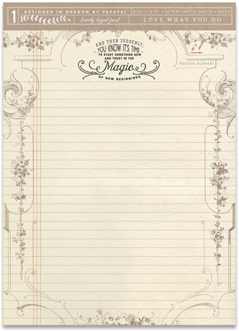 MAGIC OF NEW BEGINNINGS LEGAL PAD