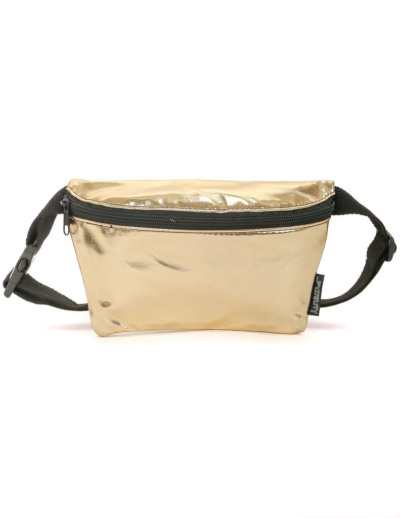 METALLIC FOIL GOLD FANNY PACK