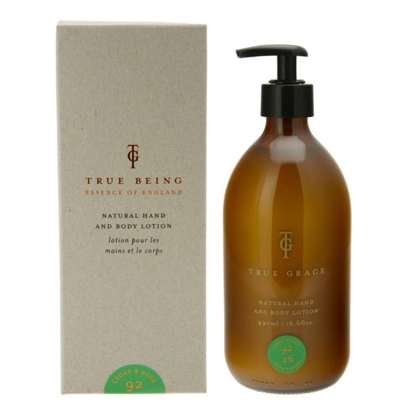 Burlington Cedar and Rose - Natural Hand and Body Lotion, 490ml