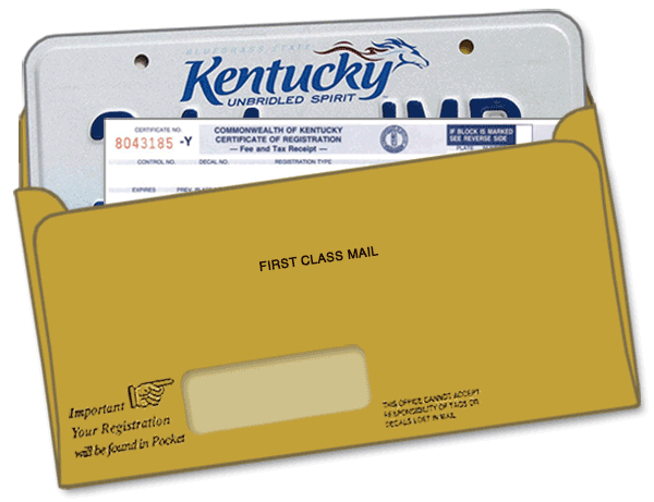 License Plate Envelope w/Window