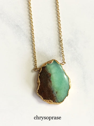 Free Form Necklace Chrysoprase