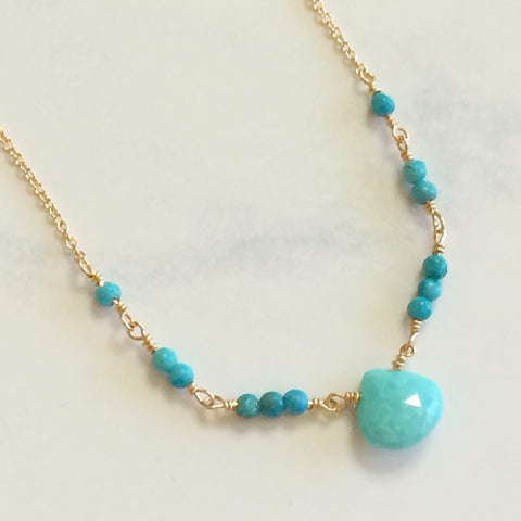Turquoise Ballerina Necklace