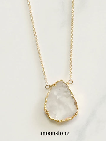 Free Form Necklace Moonstone
