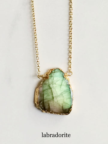 Free Form Necklace Labradorite