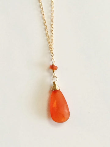 Carnelian Paula Necklace