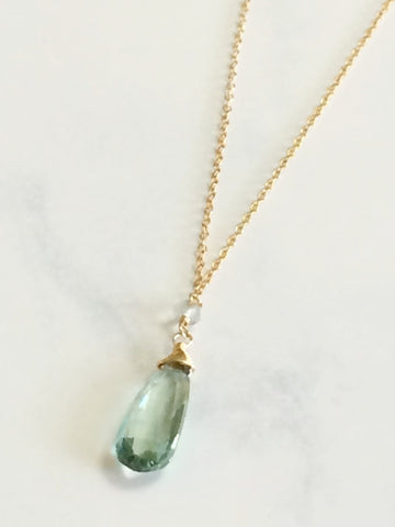 Green Amethyst Paula Necklace