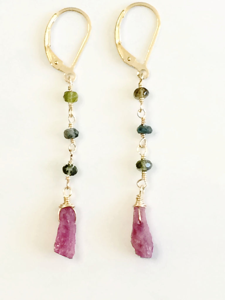 Mixed Tourmaline Karma Earrings