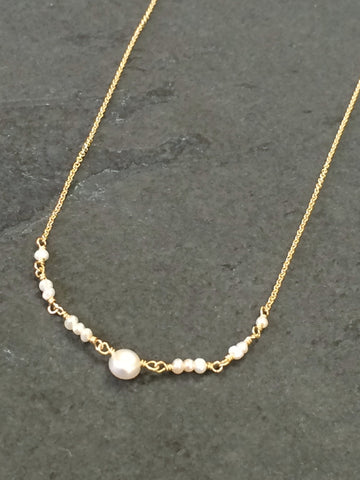 Freshwater Pearl Ballerina Necklace