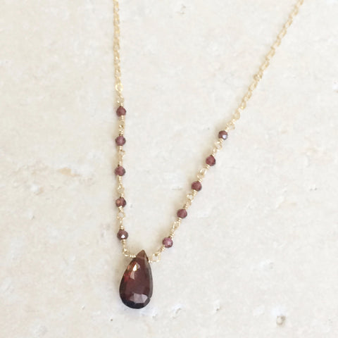 Garnet Karma Necklace