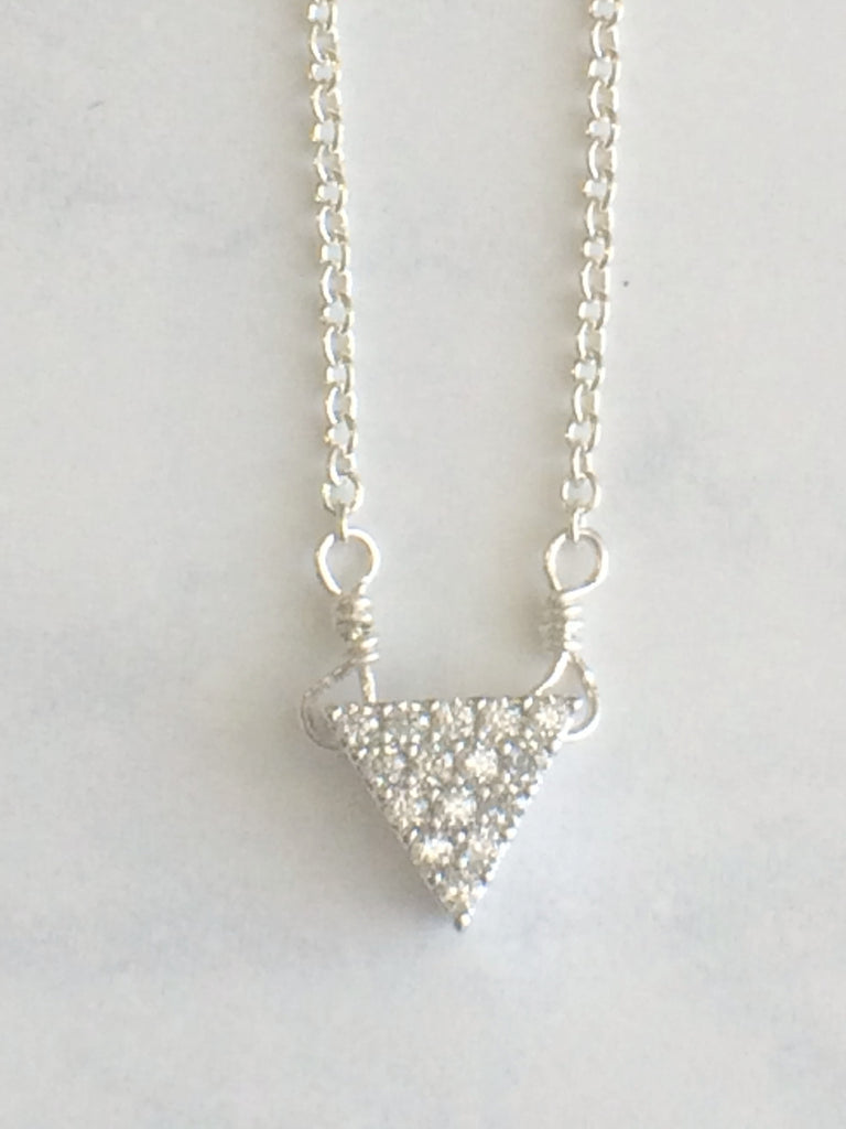 Sparkle Triangle Necklace gold