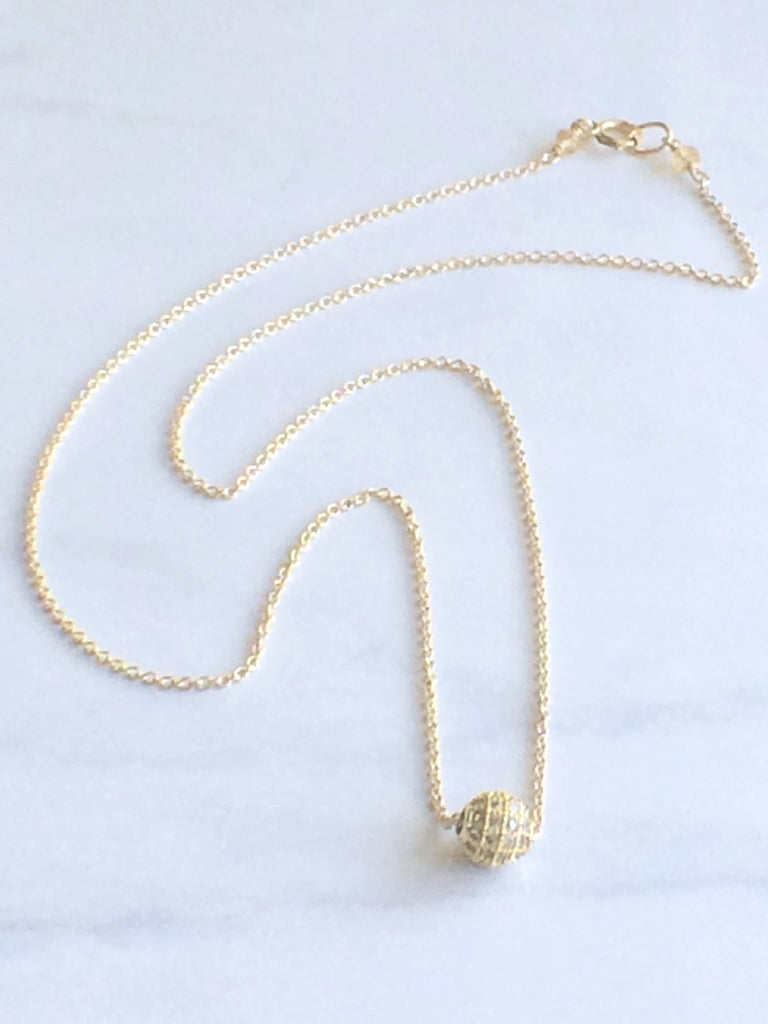 Sparkle Bead Necklace gold